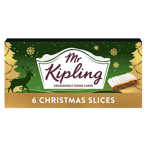 Mr Kipling 6 Christmas Slices