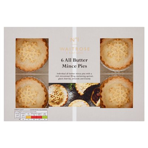 Waitrose No.1 All Butter Mince Pies 6s