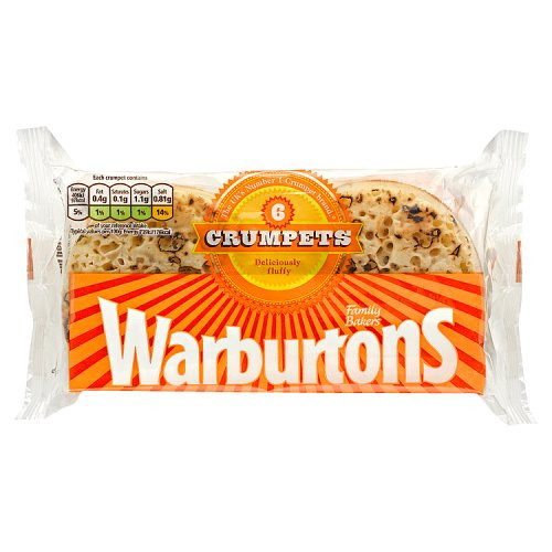 Warburtons 12 Crumpets (2 packs of 6)