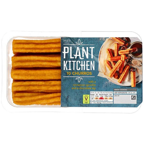 M&S Plant Kitchen Churros with Chocolate Dip 10 per pack