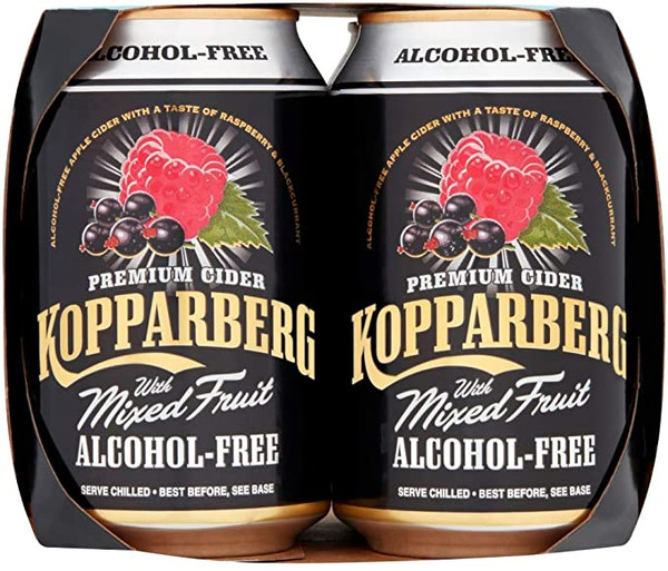 Kopparberg Alchool Free Mixed Fruit 330mlx4
