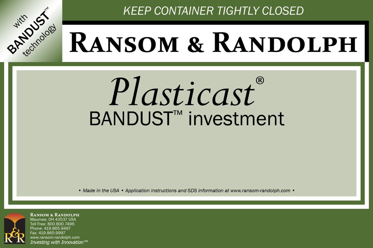 Plasticast® BANDUST™ investment - 44 lbs.