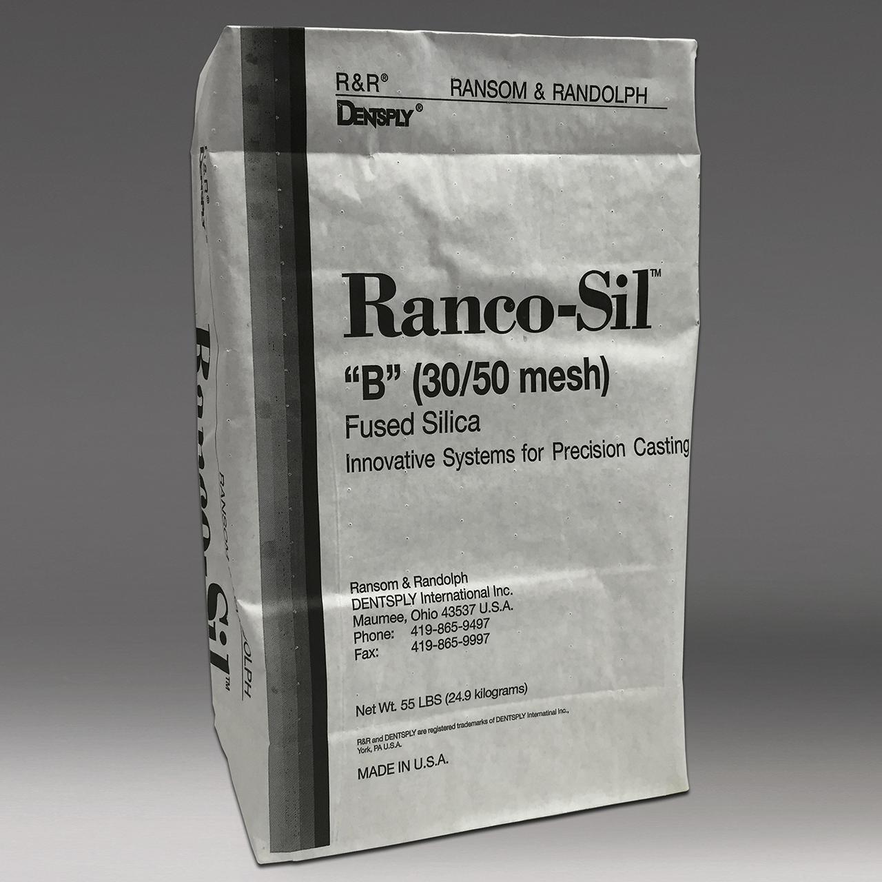 Ranco-Sil™ B (30/50 mesh) fused silica sand - 55 lbs.