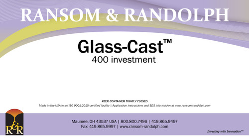 Glass-Cast™ 400 investment - 50 lbs.
