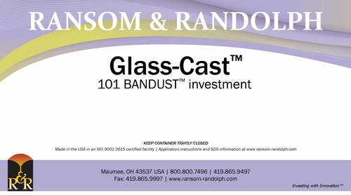 Glass-Cast™ 101 BANDUST™ investment - 44 lbs.