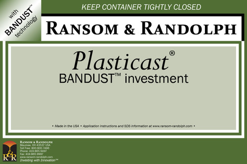 Plasticast® BANDUST™ investment - 44 lbs.