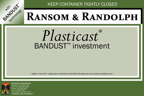 Plasticast® BANDUST™ investment - 50 lbs.