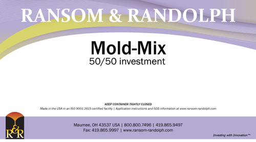 Mold-Mix 50/50 investment - 50 lbs.