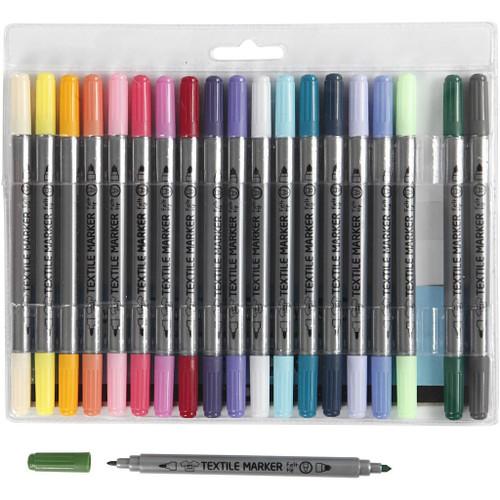 Textile Pens.. 20 pack Bright/Light