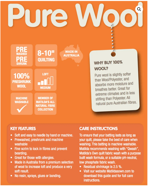 Pure Wool Wadding