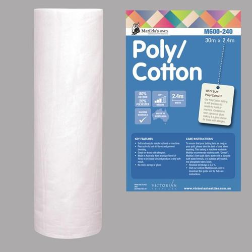 Cotton poly mix Wadding