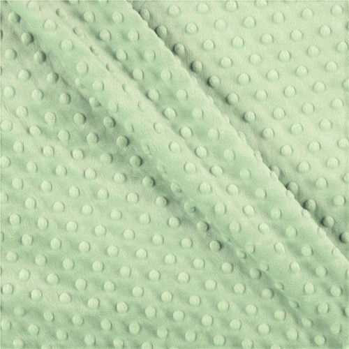 Light Green Dot Minky