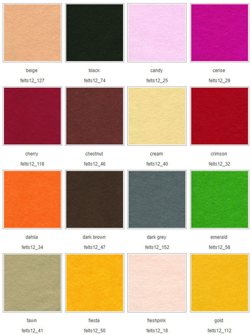 Wool Mix Felt squares 12″ (30cm)