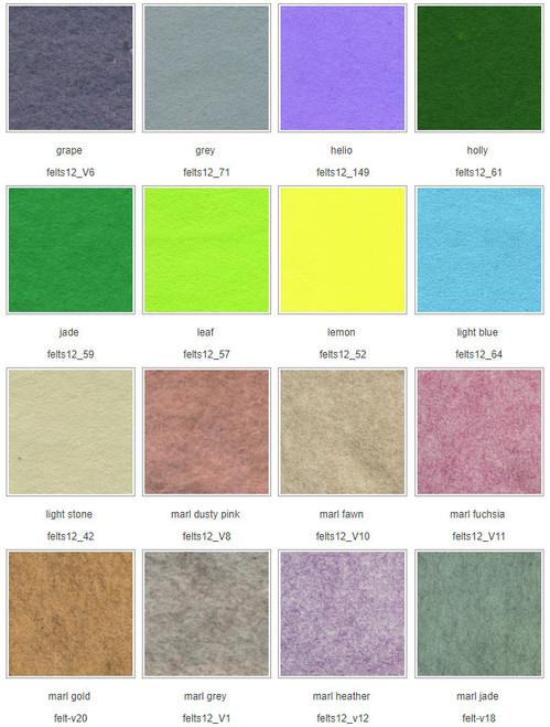 Chart 2 Wool Mix Felt squares 12″ (30cm)