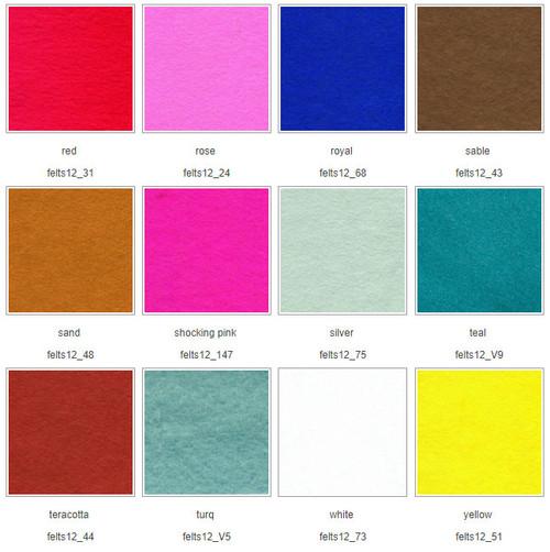 Chart 4 Wool Mix Felt squares 12″ (30cm)