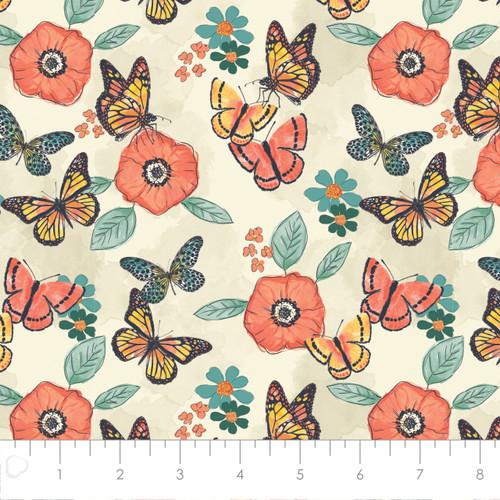 Butterflies Flower Cream