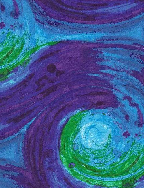 Painted Swirl Fantasy blue