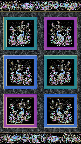 Peacock Flourish panel.