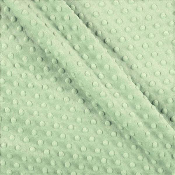 Light Green Dot Minky