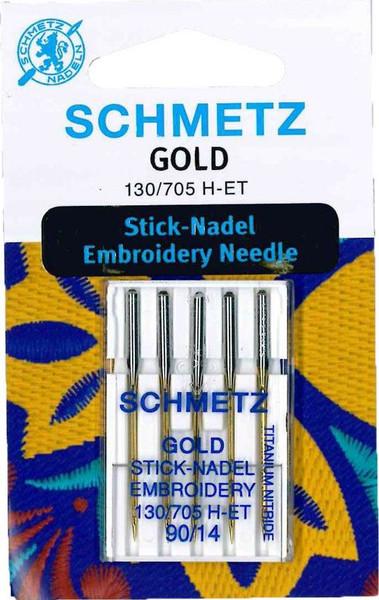Schmetz Gold Embroidery 90