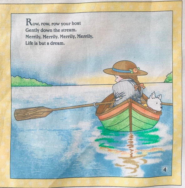 Mother Goose Cloth Book Panel