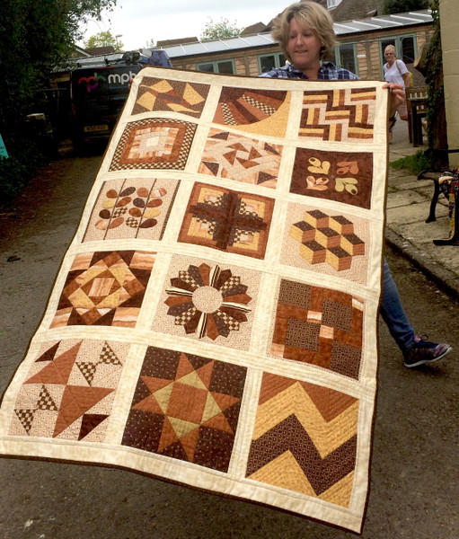 Claire did an amazing at her first ever quilt last year & is on her second!