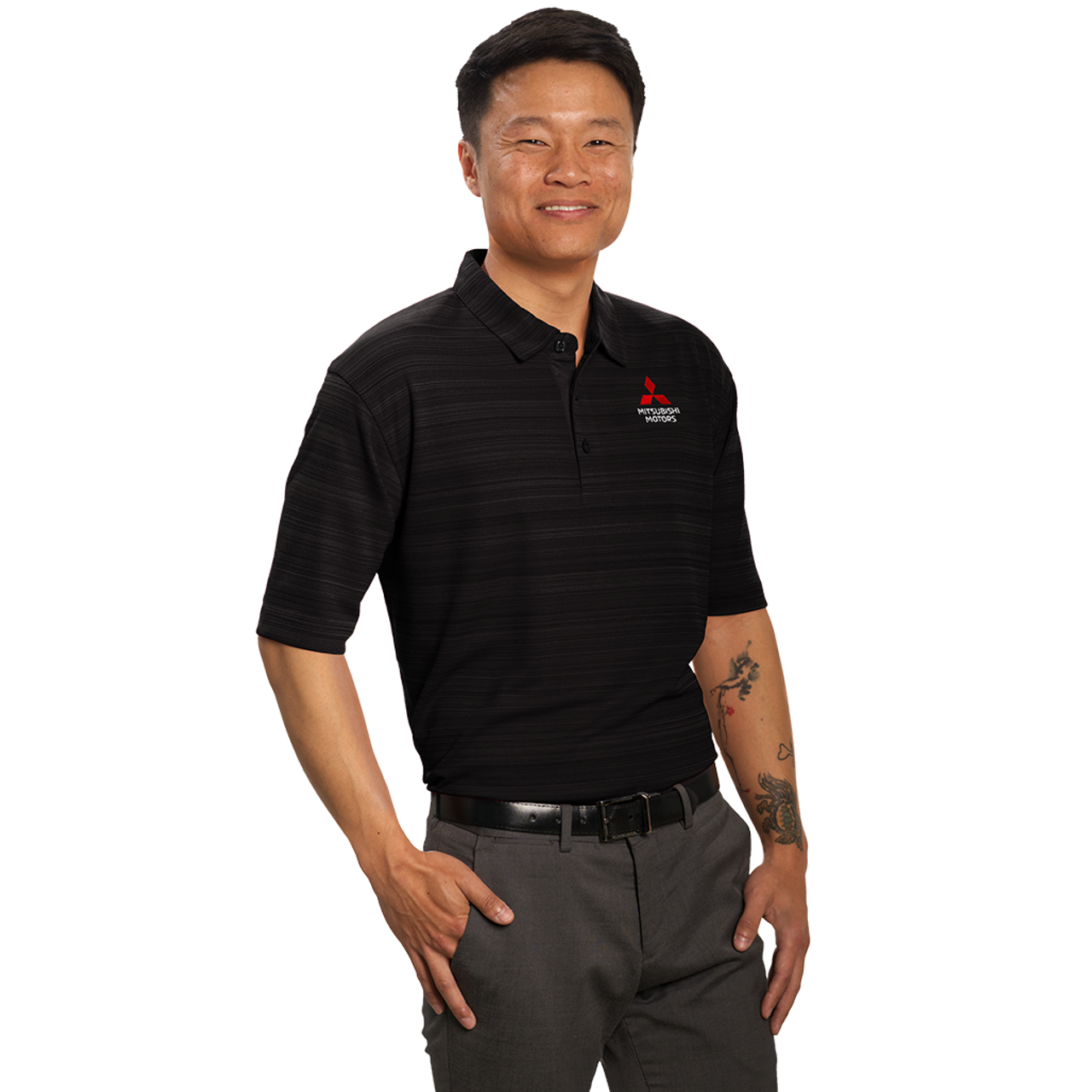 Rhombus Space Knit Polo