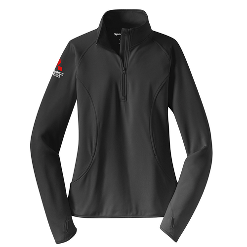 Womens Sport-Tek Stretch 1/2 Zip