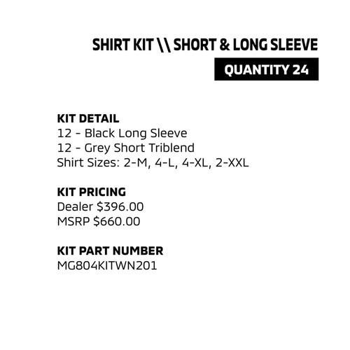 Shirt Kit - Short & Long Sleeve
