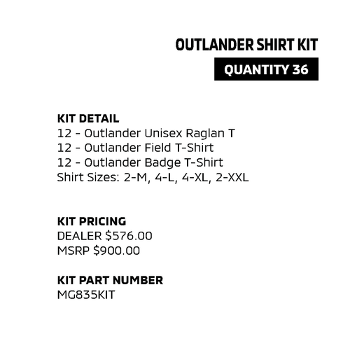Outlander Shirt Kit