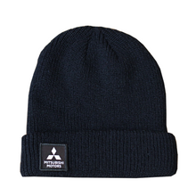 Patch Ribbed Knit Beanie