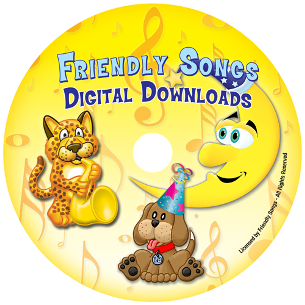 INSTANT DOWNLOAD - Friendly Songs Downloadable Personalized Music CDs -  STANDARD NAMES