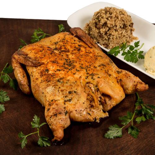 Crawfish Tasso Cornbread Stuffed Deboned Chicken