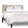 White Silver-5 Piece  Sari Duvet Cover Set w/ Pillow Covers/Euro Sham