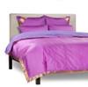 Lavender - 5 Piece Handmade Sari Duvet Cover Set with Pillow Covers / Euro Sham