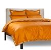 Mustard - 5 Piece Handmade Sari Duvet Cover Set with Pillow Covers / Euro Sham