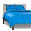 Blue - 5 Piece Handmade Sari Duvet Cover Set with Pillow Covers / Euro Sham