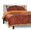 Brown - 5 Piece Handmade Sari Duvet Cover Set with Pillow Covers / Euro Sham