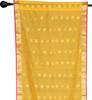 2 Yellow Bohemian Indian Sari Curtains Rod Pocket Living Room  Window Treatment