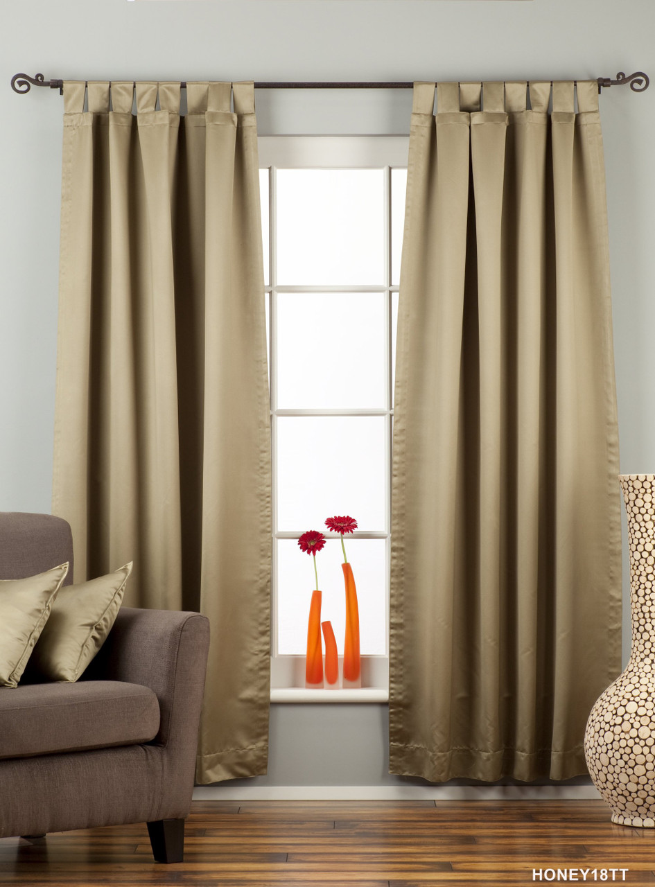 Olive Green Tab Top 90 Blackout Curtain Drape Panel Piece Indian Selections