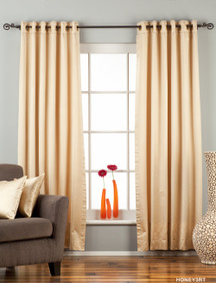Golden Ring / Grommet Top 90% blackout Curtain / Drape / Panel  - Piece