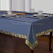 Dark Gray - Handmade Sari Tablecloth (India)