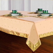 Golden - Handmade Sari Tablecloth (India)