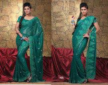 Bhagyashri Georgette Indian Sari saree Fabric Bellydance