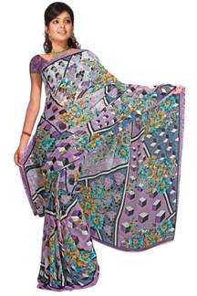 Avahani Georgette Printed Casual Saree Sari Bellydance fabric
