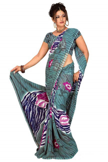 Bimala Georgette Printed Casual Saree Sari Bellydance fabric