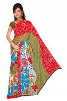 Bhavini Georgette Printed Casual Saree Sari Bellydance fabric