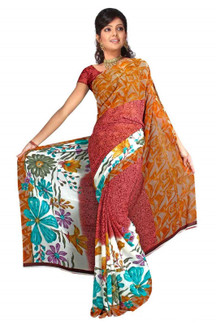 Bhavna Georgette Printed Casual Saree Sari Bellydance fabric