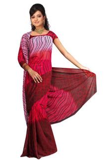 Barkha Georgette Printed Casual Saree Sari Bellydance fabric