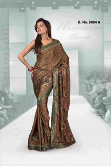 Aashiyana Fancy festival wear designer Georgette Sari  with sequence work